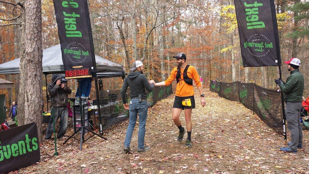 Finishing my third Rough Trail 50K