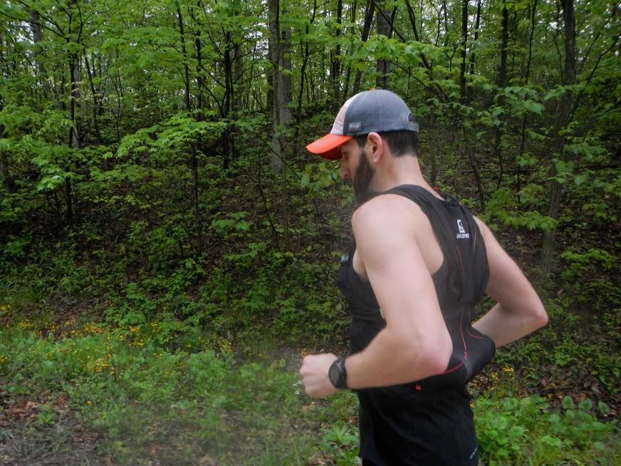 2017 runners struggle along the gravel road toward the finish line.