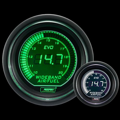 Wideband Digital Air Fuel Ratio Kit Green//white EVO Series