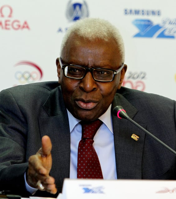 Former IAAF President Lamine Diack of Senegal (Doha Stadium Plus Qatar photo)
