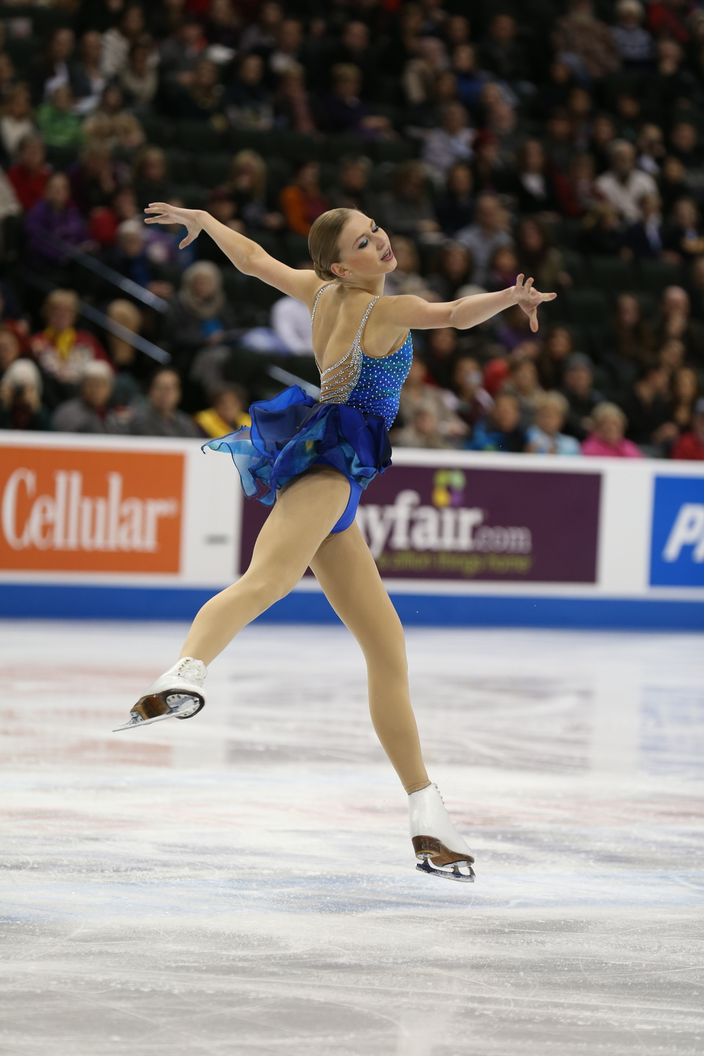 Polina Edmunds winning the short program Thursday at the U.S. Championships.  (Photo: U.S. Figure Skating / Jay Adeff)