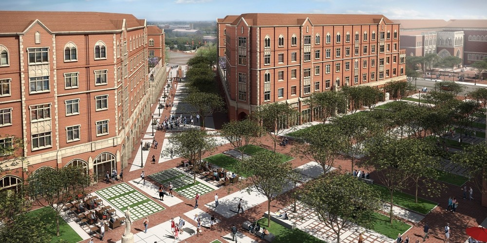 The planned USC buildings that would be used as a media village if L.A. hosts the 2024 Summer Games.