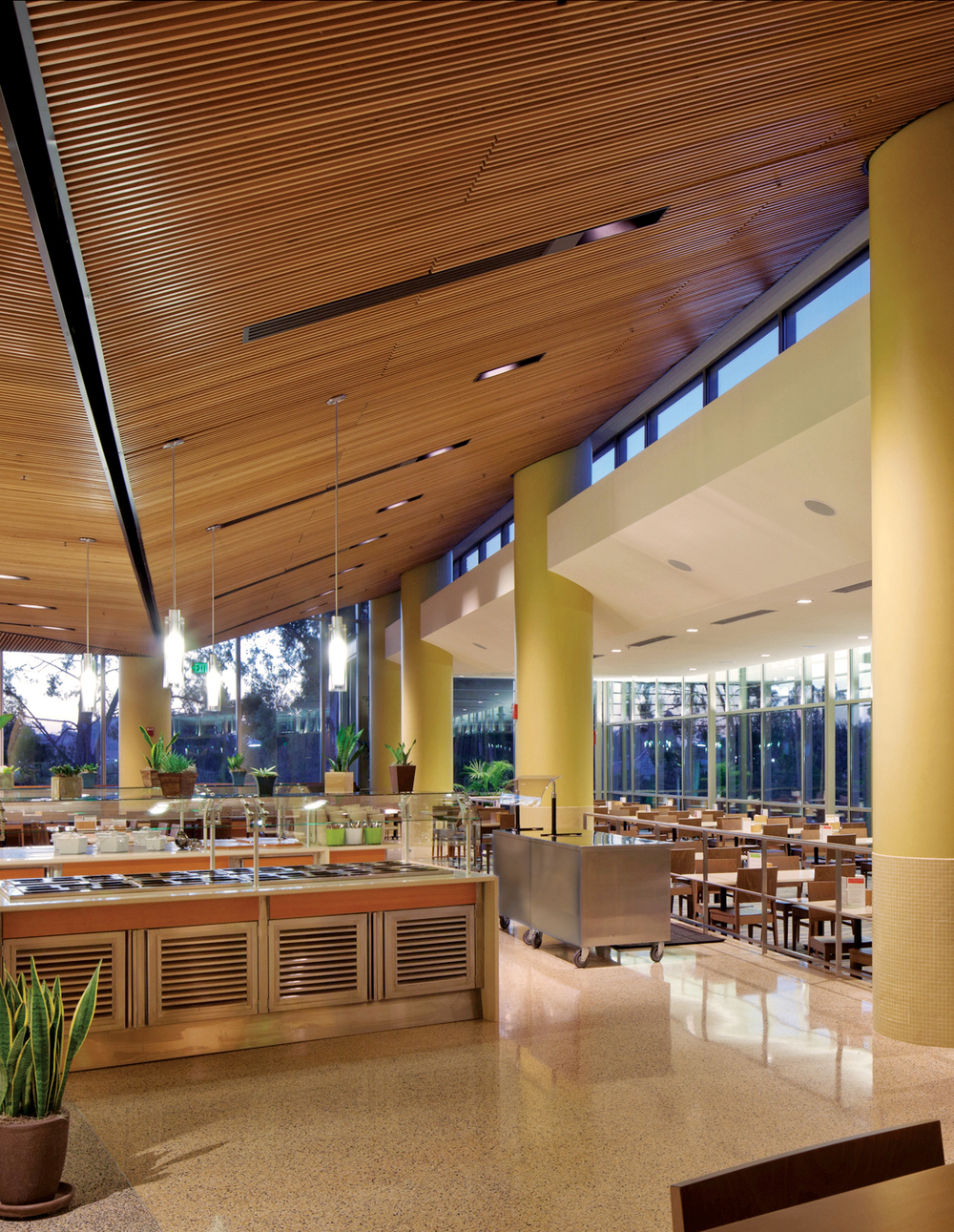 A UCLA cafeteria that would be part of the athletes village in 2024.
