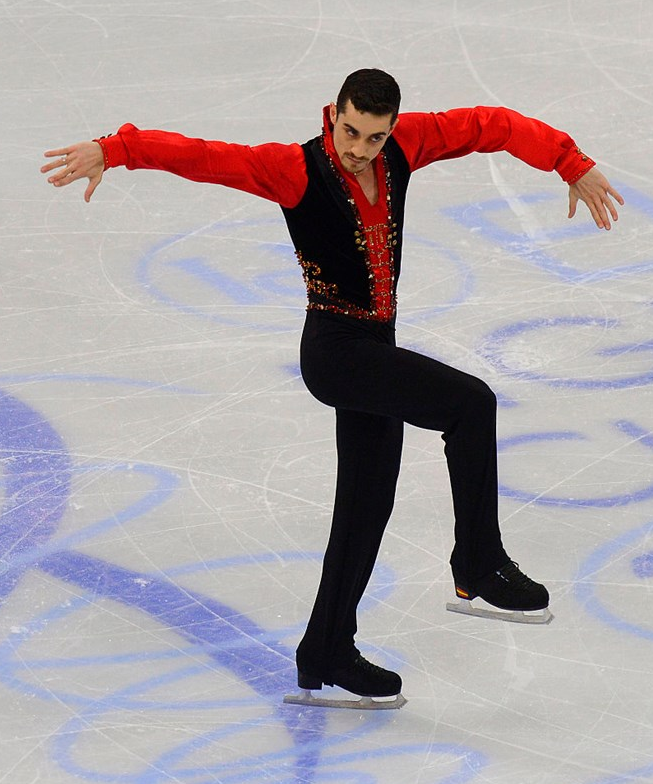 Javier Fernandez at the European Championships (ISU photo)