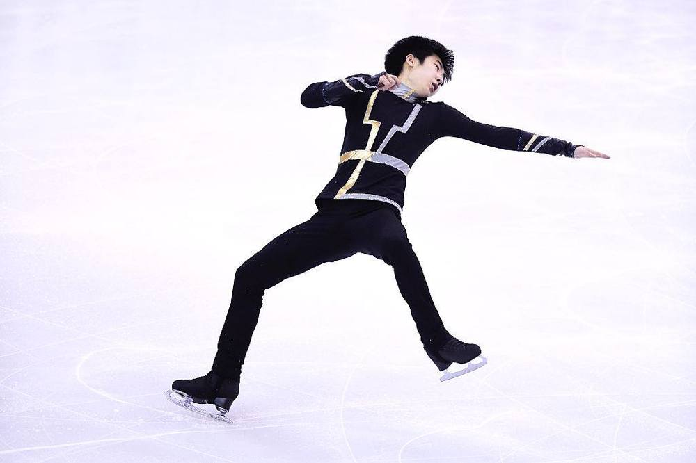 China's Jin Boyang at the Grand Prix Final. (ISU photp)