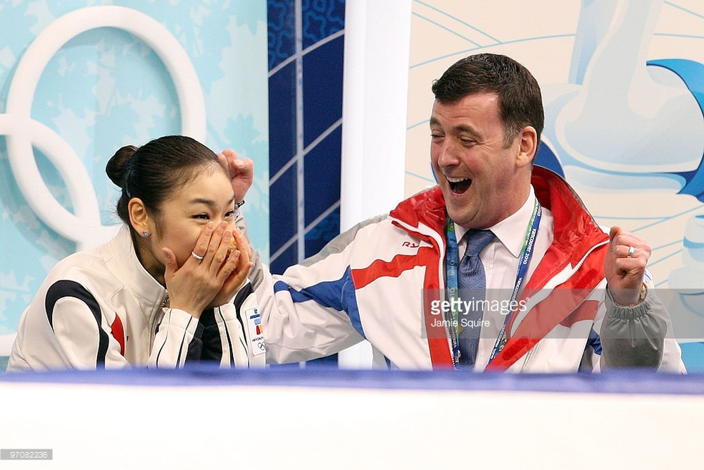 Yu-Na Kim and Brian Orser at her moment of triumph in the 2010 Olympics (Getty Images / Jamie Squire)