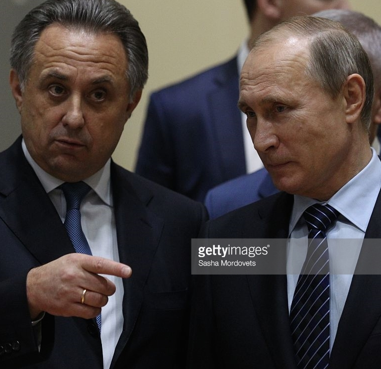 Russian sports minister Vitaly Mutko (left) and Russian President Vladimir Putin (Getty Images)