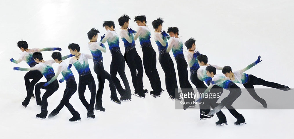 Yuzuru Hanyu of Japan executing a quad loop at the Grand Prix Final.  Earlier this season, Hanyu became the first to land this type of quadruple jump in competition.