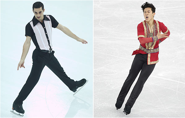 Javier Fernandez (left) of Spain and Nathan Chen of the U.S. (Getty Images)