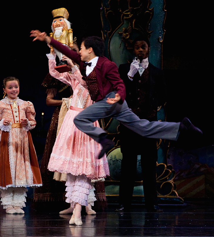 Leaping high (as usual), Nathan Chan performs in a 2011 Ballet West production of the Nutcracker.  (Courtesy Ballet West)
