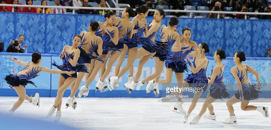 Mao Asada's successful triple axel in the free skate at the 2014 Olympics.