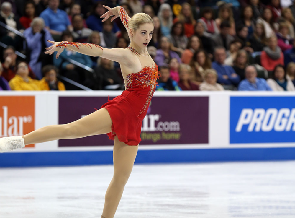 Gracie Gold during one of the best performances of her career: the free skate that gave her the 2016 U.S. title.  (U.S. Figure Skating / Jay Adeff)