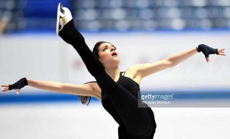 Russia's Evgenia Medvedeva strikes a captivating pose.