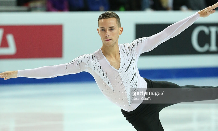 Adam Rippon at the Grand Prix Final in 2016, his last competition before being sidelined by a broken ankle.  He returned with encouraging skates at last weekend's Finlandia Trophy.