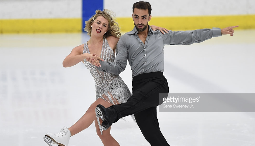 Olivia Smart and Adrià Diaz, shown at the 2016 U.S. International Classic, may have missed Spain's 2018 Olympic team because of a corrupted result.  (Getty Images)