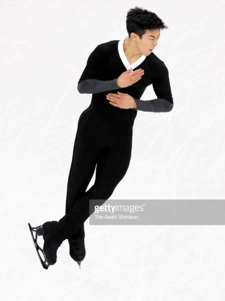 Nathan Chen does one of his history-making five clean quads in 2018 Olympic free skate.