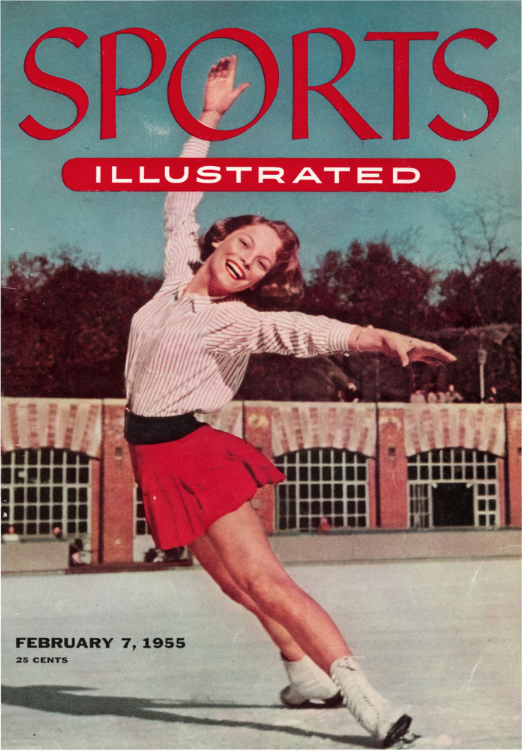 Carol Heiss made the cover of SI at age 15.   .
