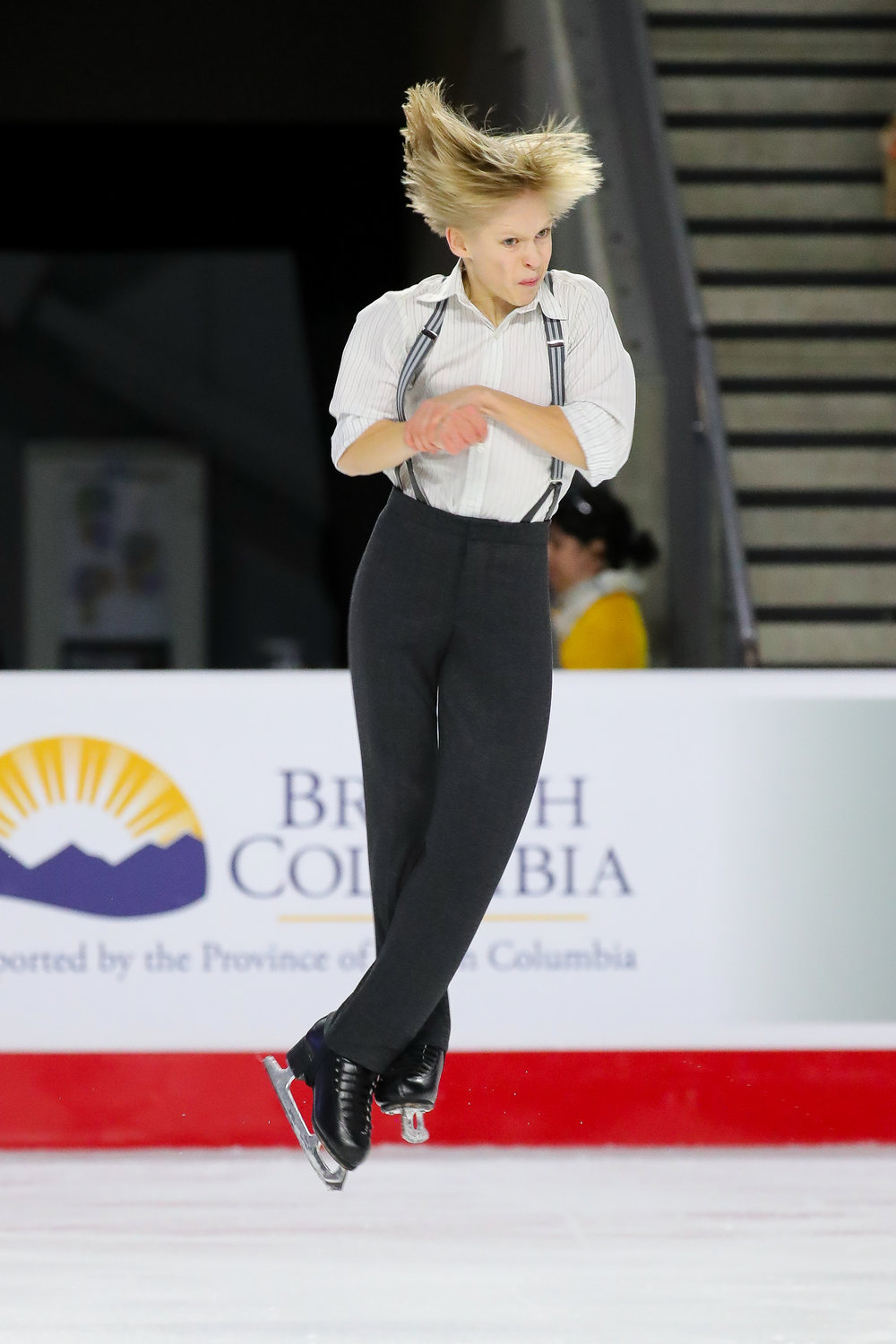 Canadian quad prodigy Stephen Gogolev, 13, competed as a senior at nationals this season.  (Skate Canada / Greg Kolz)
