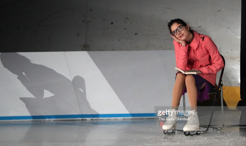 Evgenia Medvedeva performing at the March 31 Stars on Ice show in Japan.