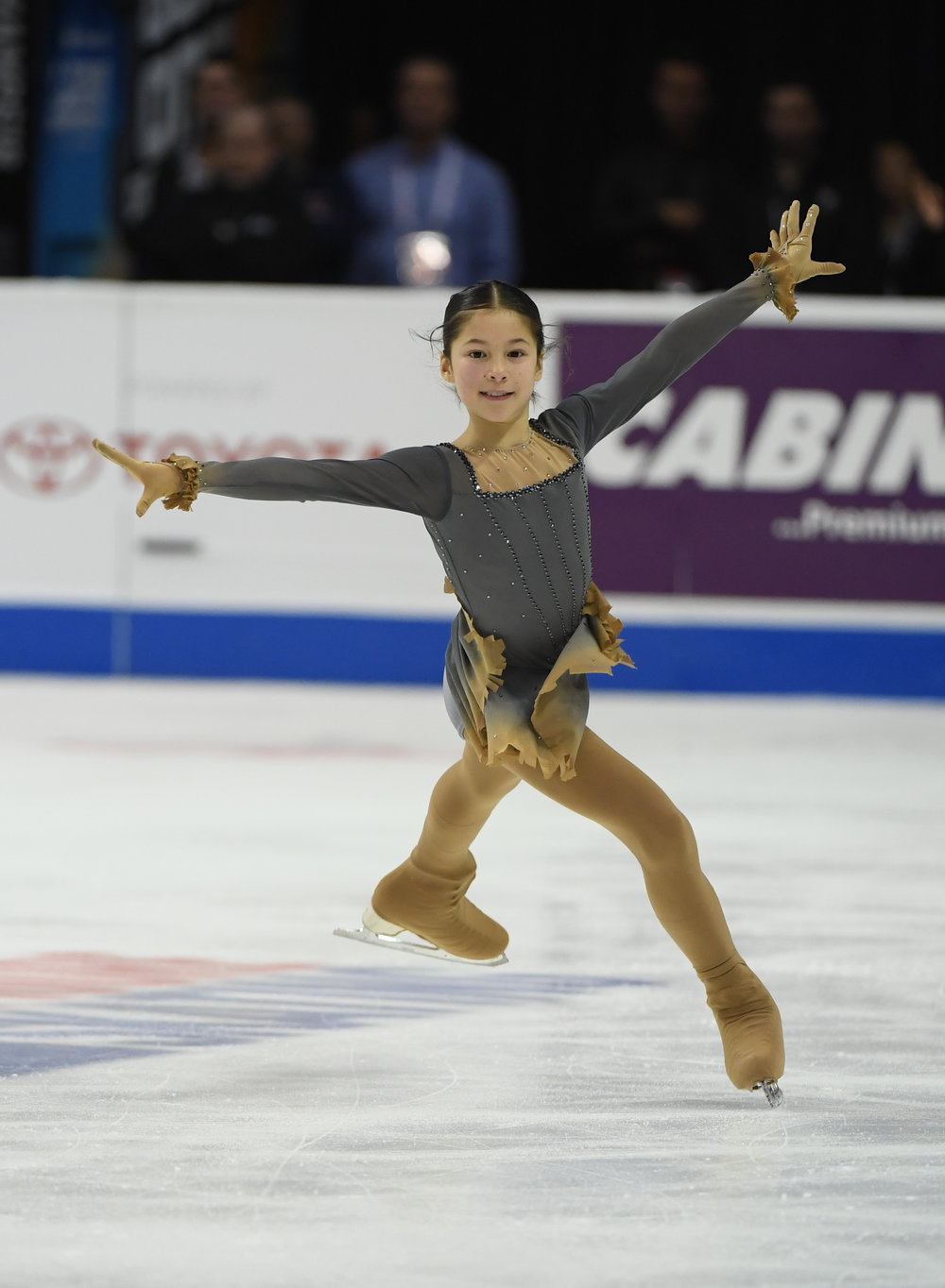 Alysa Liu won the 2018 U.S. junior title at age 12 with seven triple jumps in the free skate.  (Jay Adeff - U.S. Figure Skating)