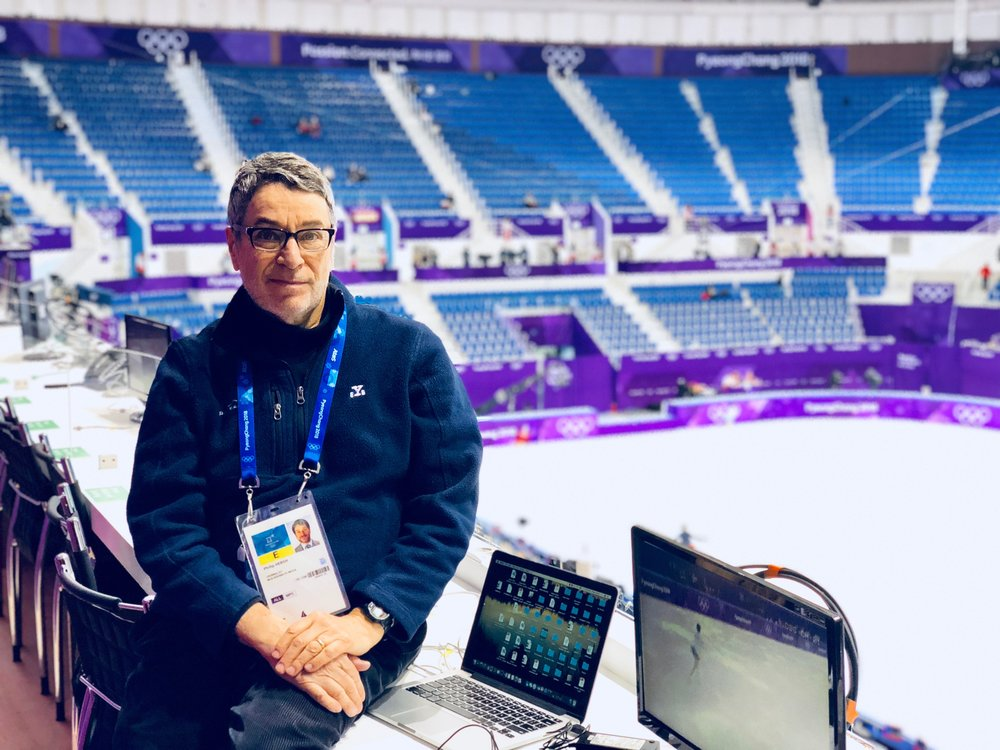 I was on the scene early for icenetwork coverage at the 2018 Winter Games. (Jackie Wong photo)