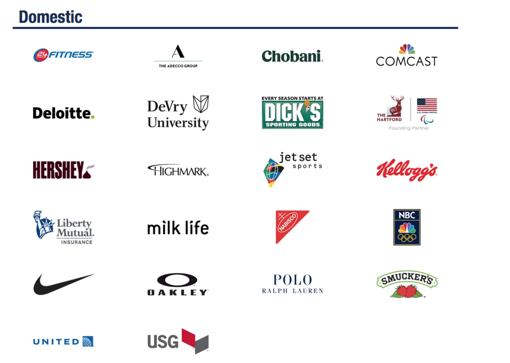 The USOC's domestic sponsors, as listed on teamusa.org.