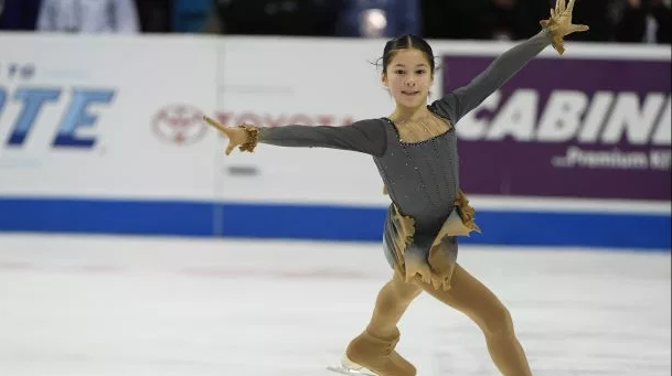 Alysa Liu winning the 2018 junior national title. (U.S. Figure Skating / Jay Adeff)