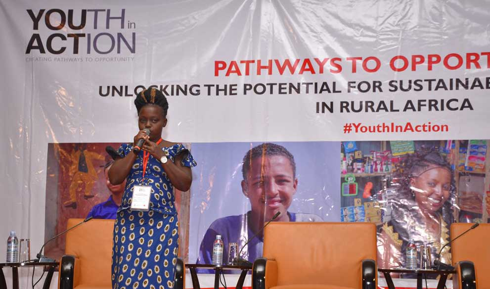 Event attendees heard directly from Ugandan youth, who challenged the audience to see the potential in youth and to work with them to prepare them for successful futures.