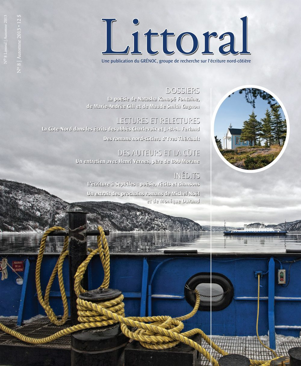 Cover Page the Québec french literary magazine Littoral