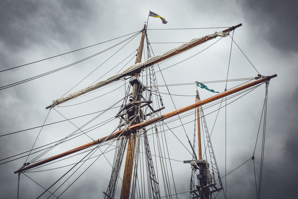Masts of the Pacific Swift