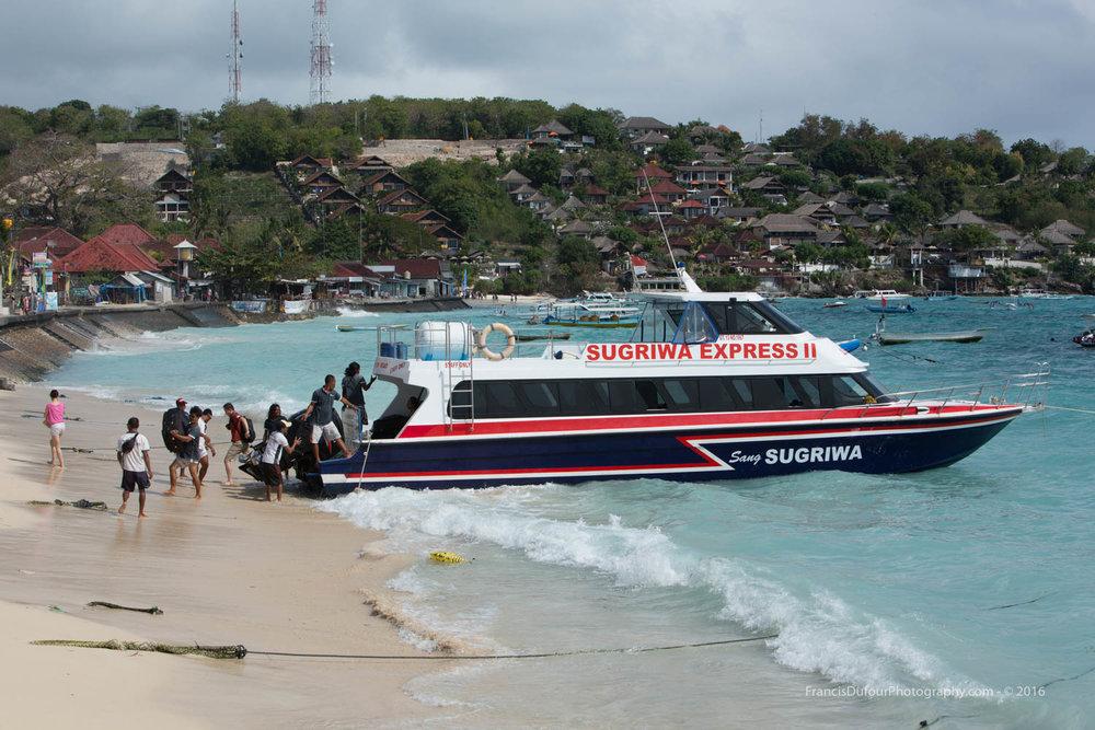 Ferry to Nusa Lembongan Island