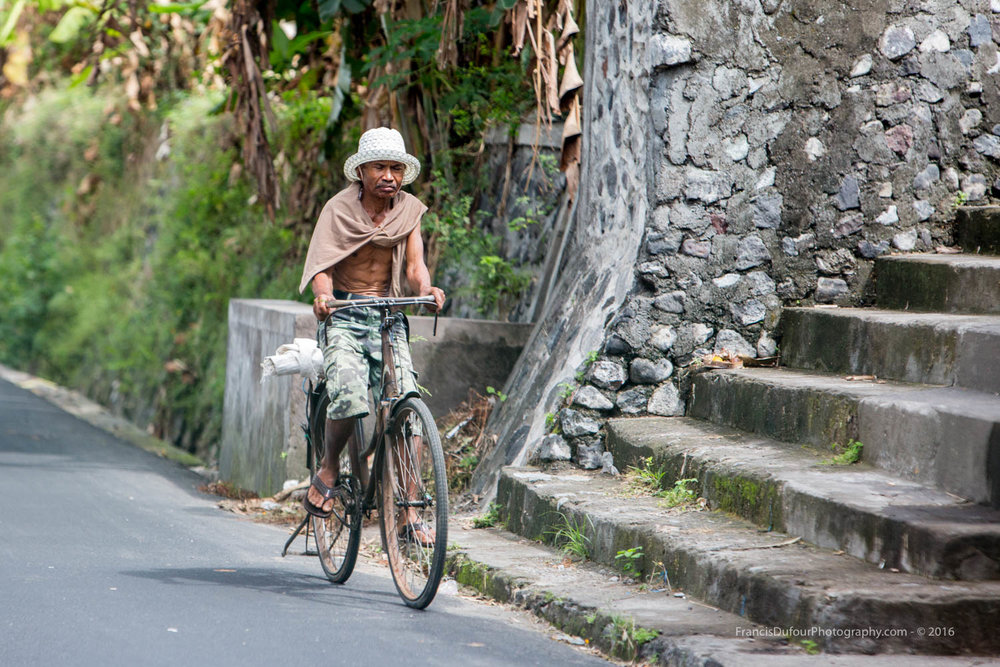 Old Man Cycling
