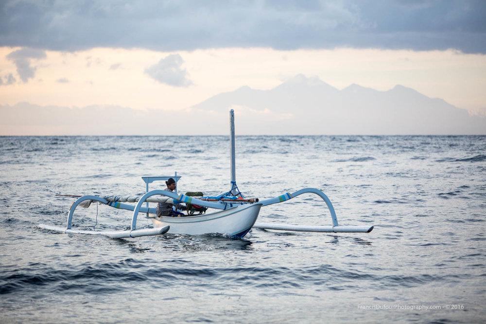 A Fisherman and his Jukung