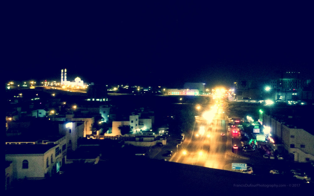 First glimpse of Muscat captured in the middle of the night with my iPhone.