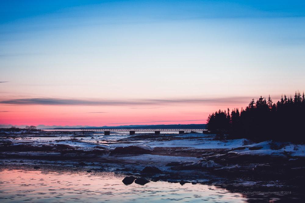 Doux crépuscule à l'Île McCormick - Sweet dusk on the McCormick island (Port-Cartier, Québec, Canada) - Francisdufour.ca