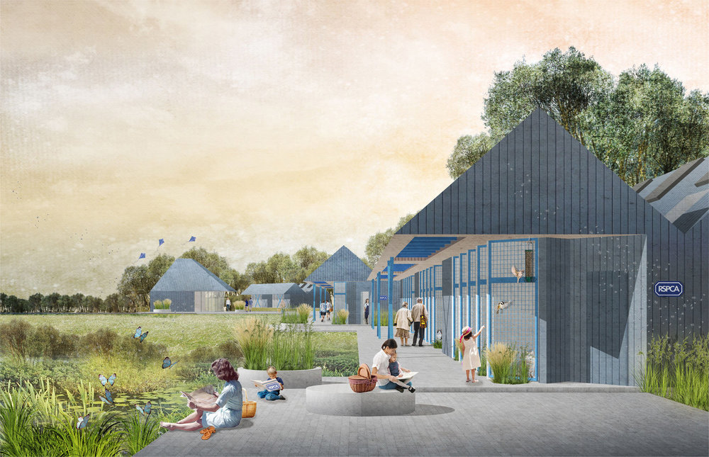 alma-nac's proposal was one of the three to be shortlisted for the RSPCA Animal Centre for the Future Competition. Phase 2 will involve developing the design before a final winner is selected to partner with the RSPCA in delivering a cattery, kennels, a veterinary hospital and office, along with a series of other associated spaces.   MORE