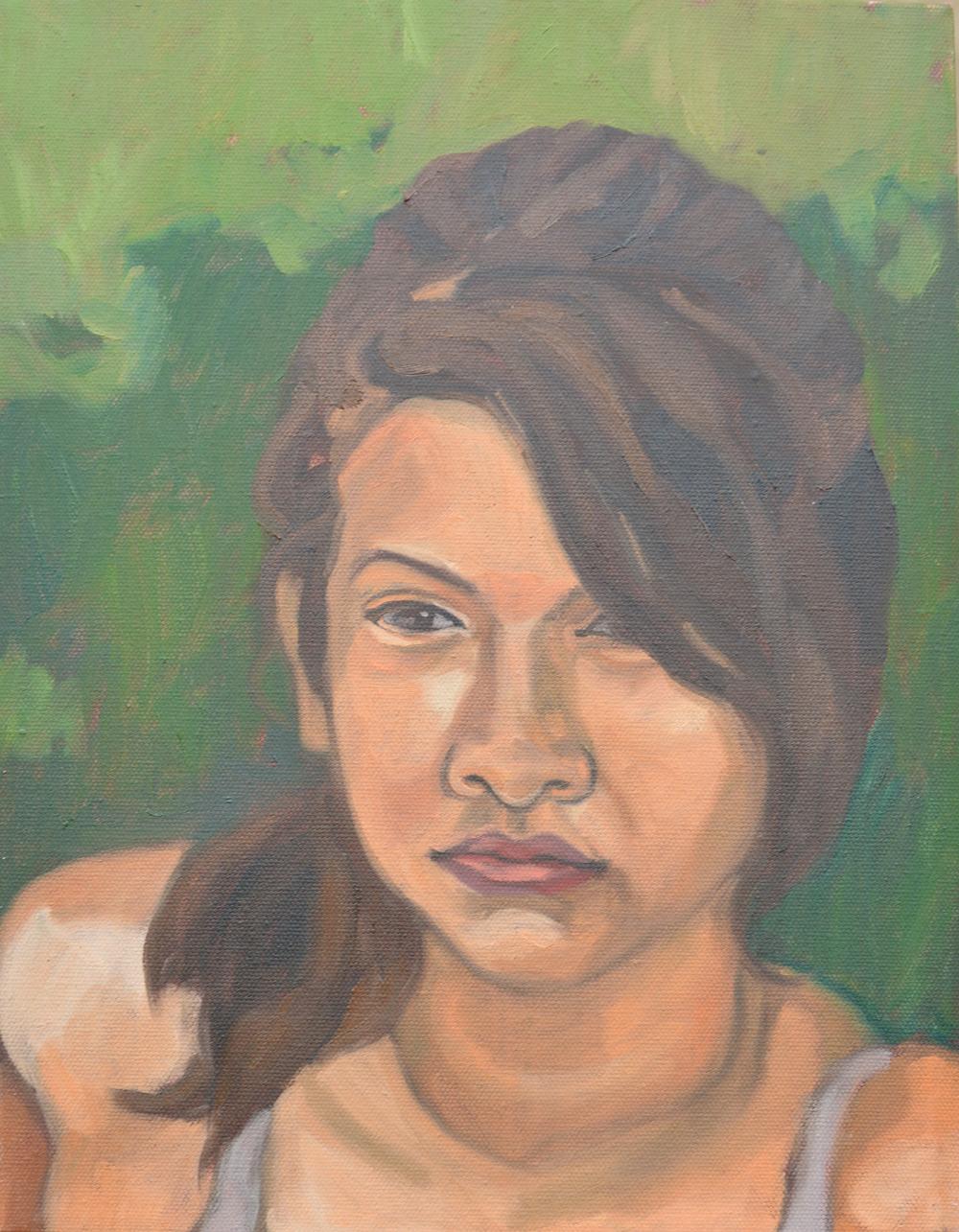"Michelle, 11x14"", oil on canvas, 2011"
