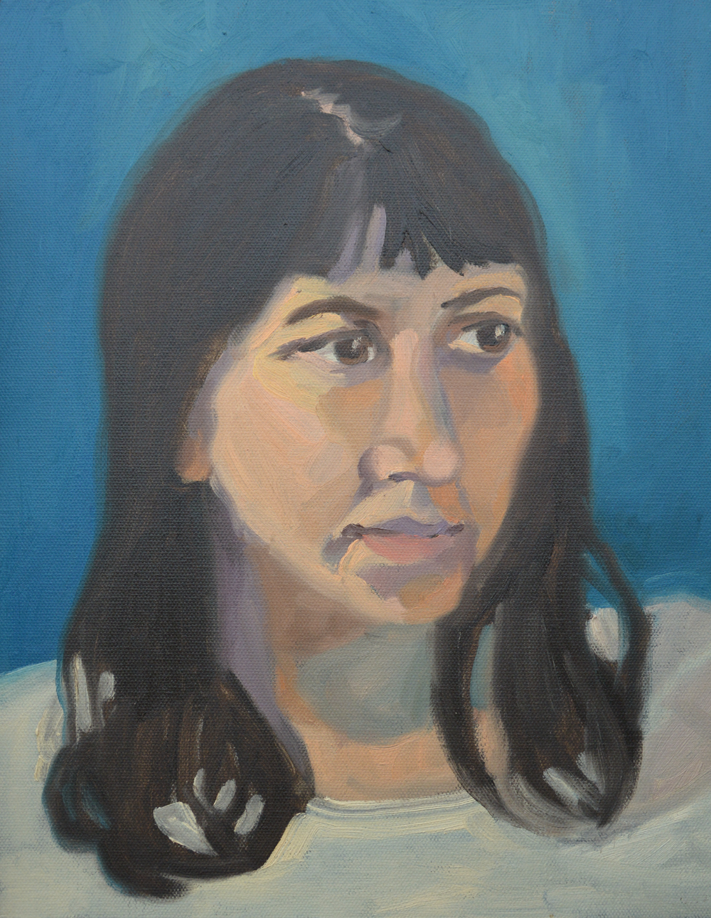 """Claudie, 11x14"""", oil on canvas, 2011"""