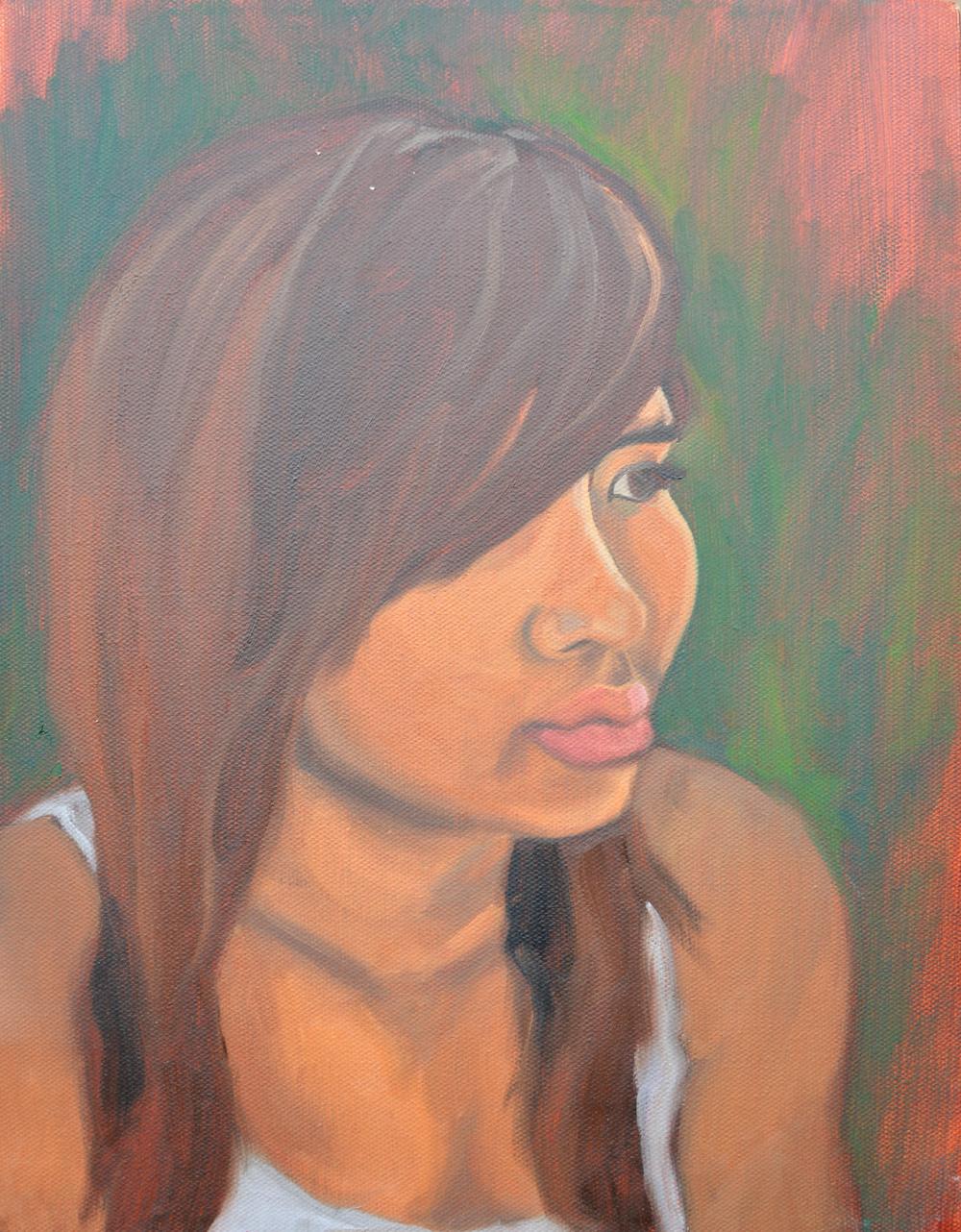 "Sovanna, 11x14"", oil on canvas, 2011"