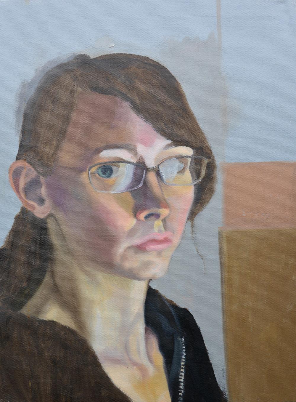 "Self Portrait, 11x17"", oil on canvas, 2007"