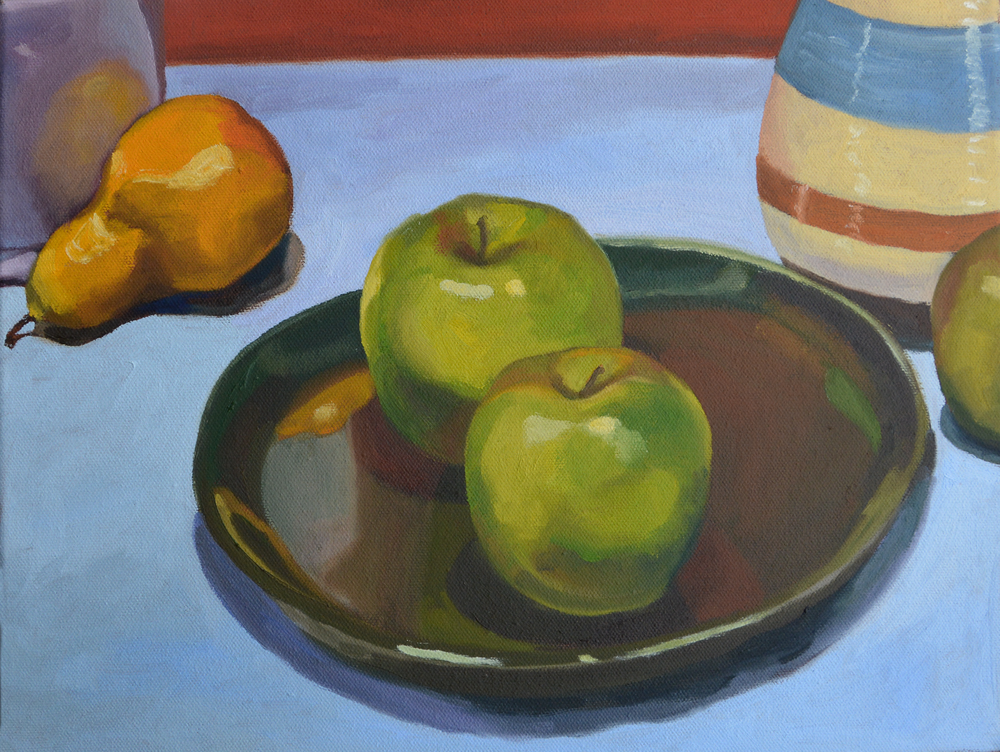 """Still Life with Apples, 14x11"""", oil on canvas, 2007"""