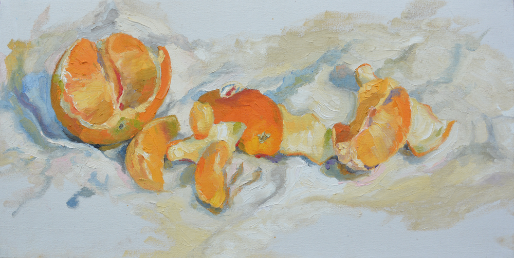 "Oranges, 24x12"", oil on canvas, 2006"