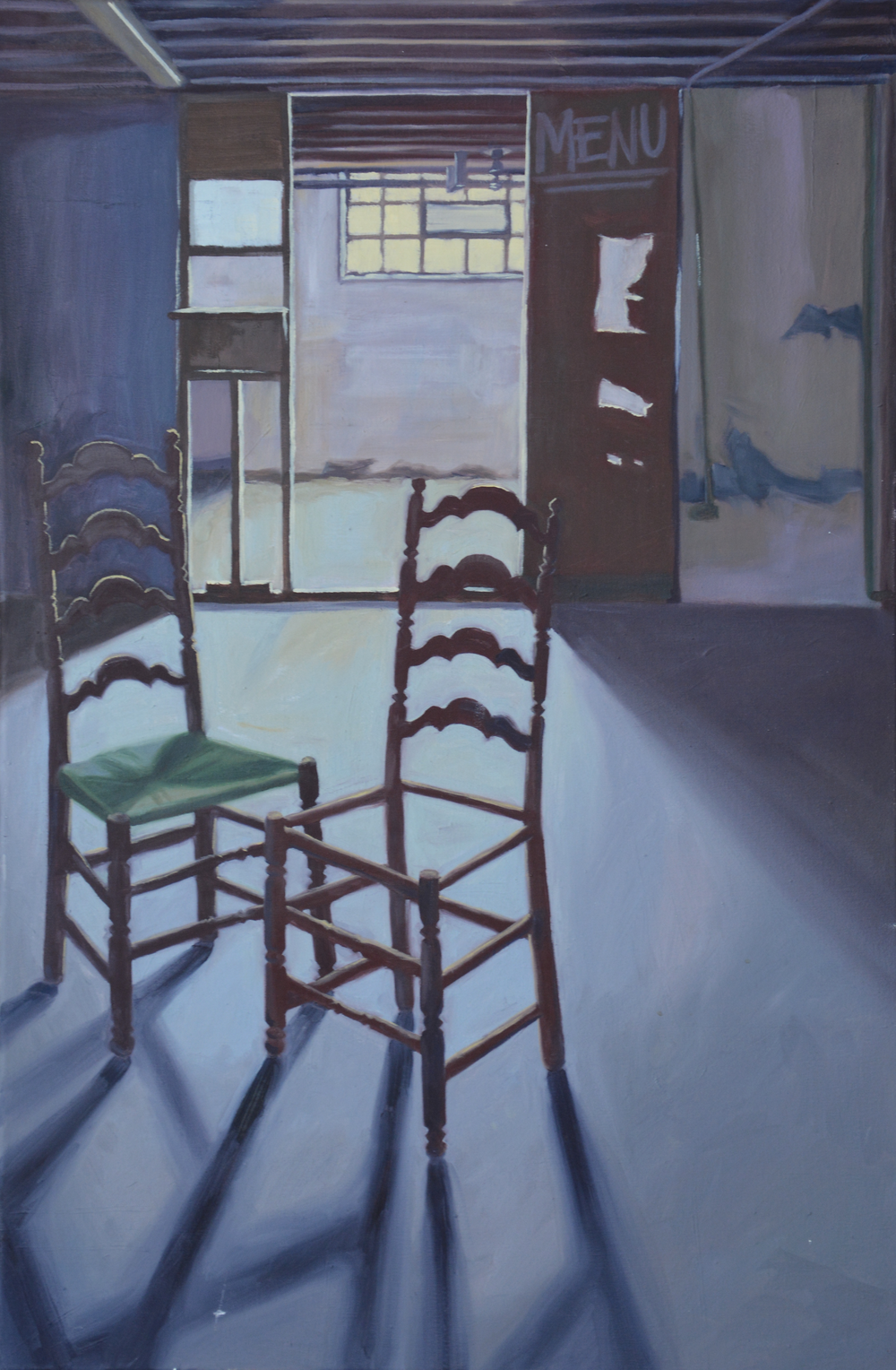 "Basement, 32x48"", oil on canvas, 2006"
