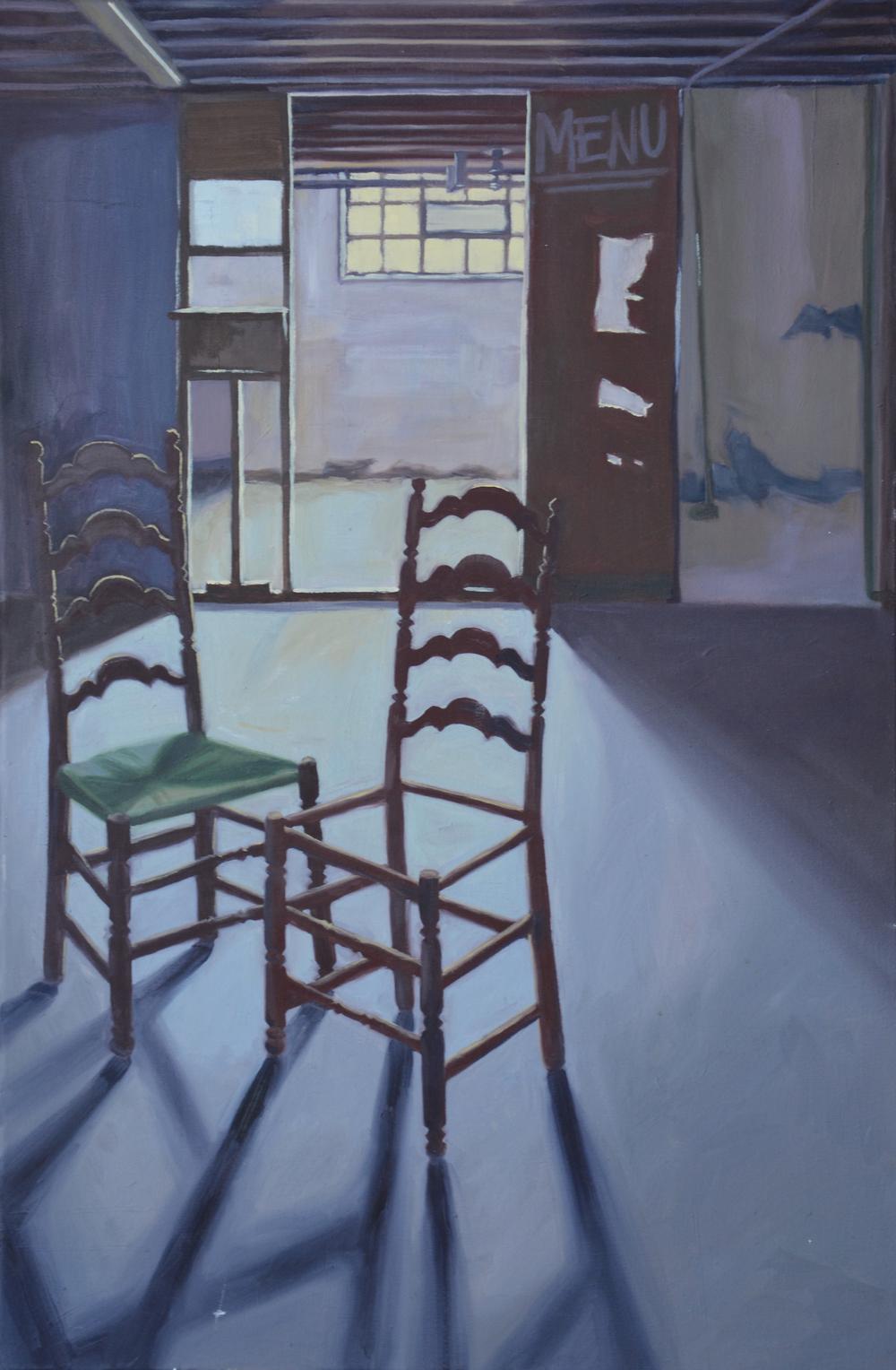 "Basement, 32x48"", oil on canvas, 2006"