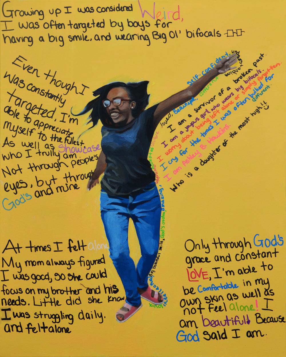 """I am Ashley, 24x30"""", oil on canvas, 2015"""