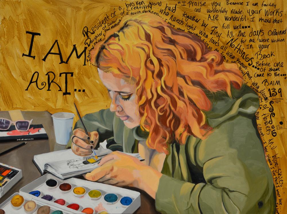 "I Am Saiyeh, 48x36"", oil on canvas, 2015"