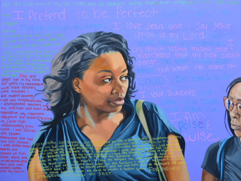 """I Am Kenise, 40x30"""", oil on canvas, 2015"""