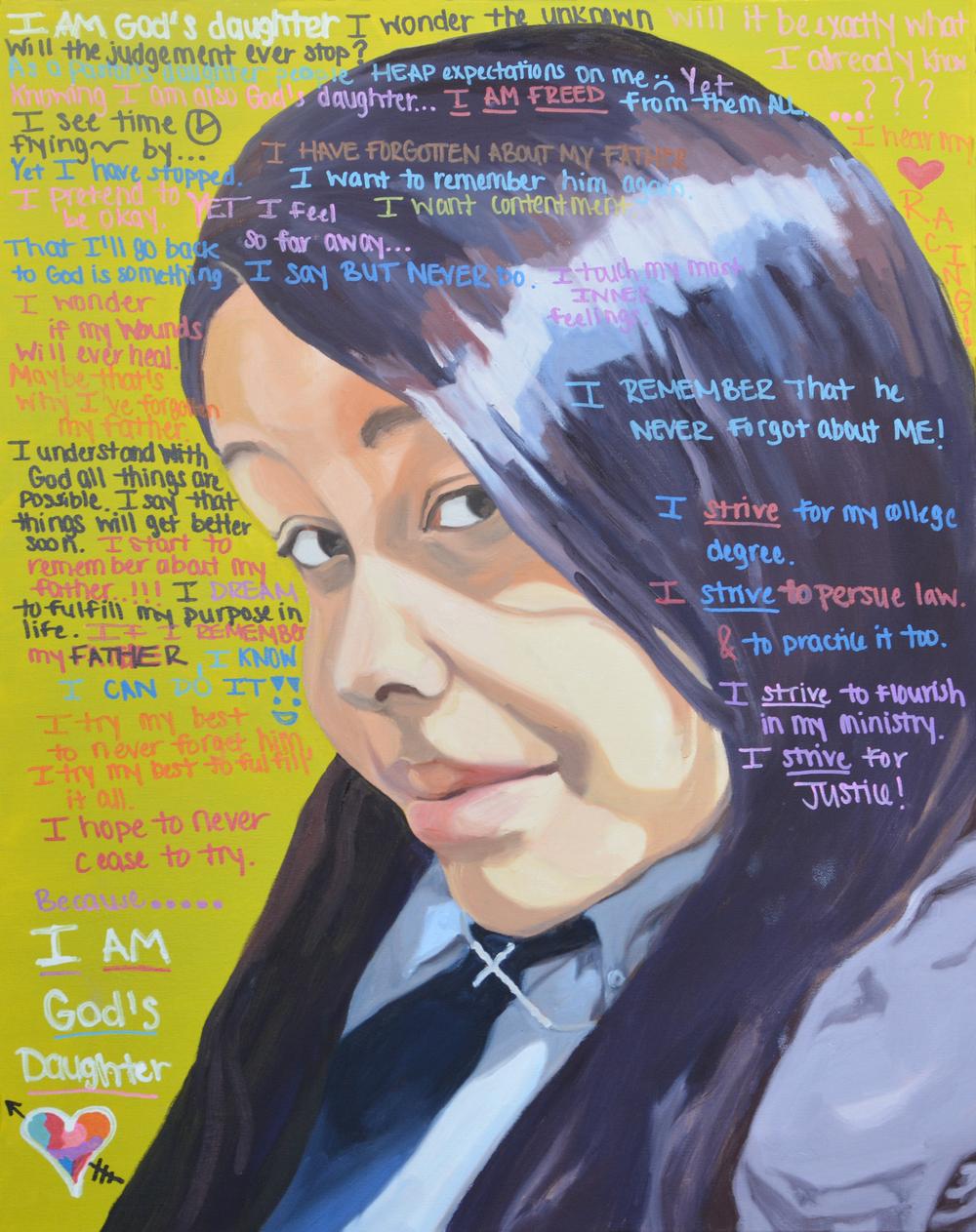 "I Am Taisha, 24x30"", oil on canvas, 2015"
