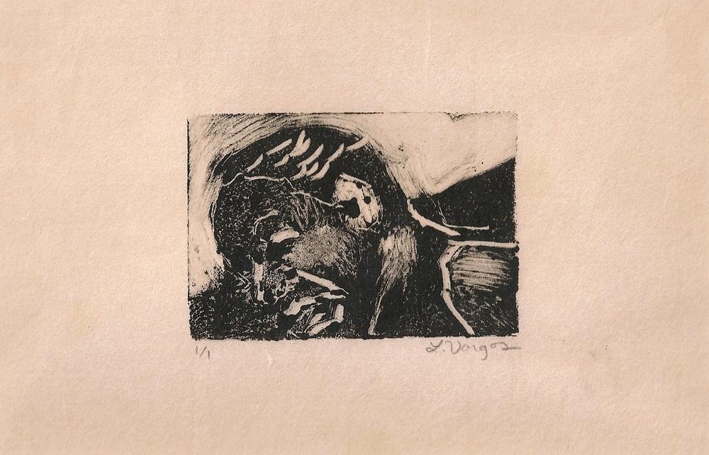 "Girl, 3x2"", monotype, 2010"