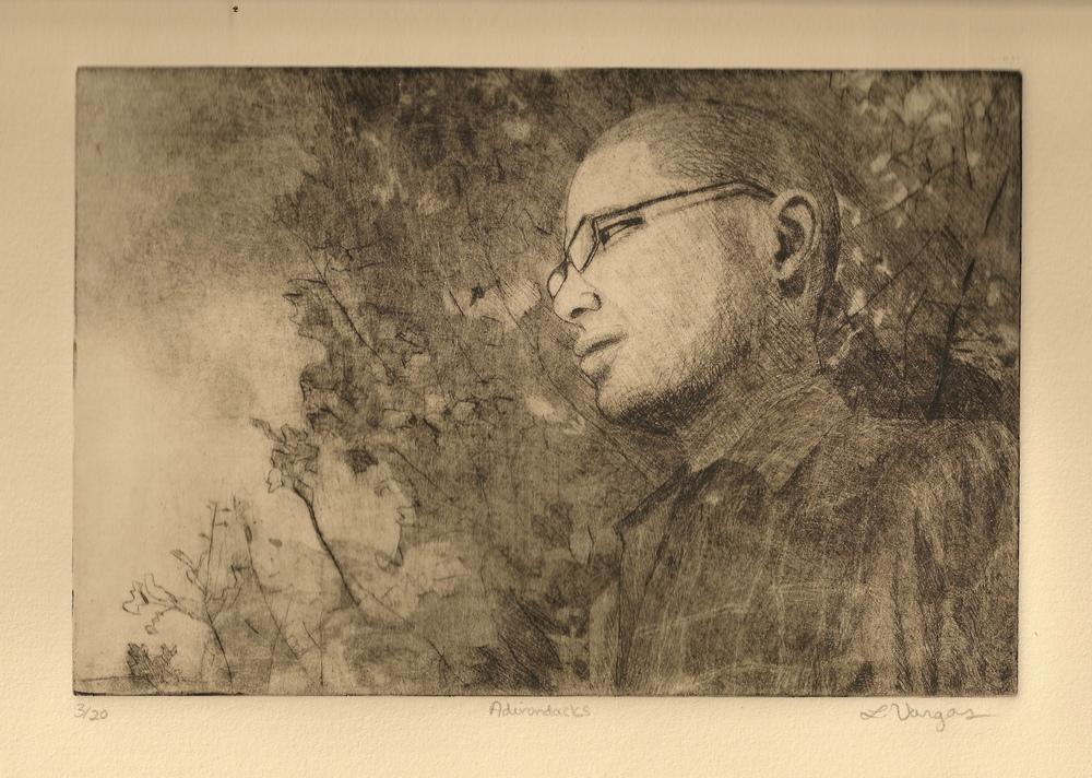 "Adirondacks, 7 7/8x6"", etching, 2010"